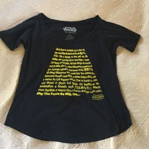Tops - New Star Wars Black Top May The Force Be With You